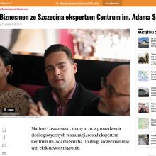 O nominacji Mariusza Łuszczewskiego na eksperta Centrum w Gazecie Wyborczej