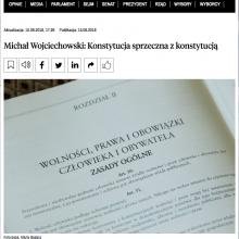 """""""Konstytucja sprzeczna z konstytucją"""" artykuł prof. Michała Wojciechowsiego w Rzeczpospolitej"""