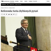 Referenda: Seria chybionych pytań prof. Michał Wojciechowski